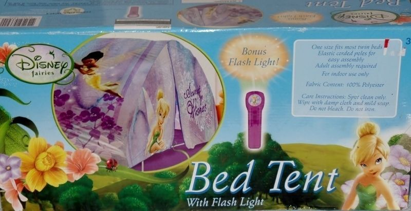 Disney Fairies Tinker Bell Secret Wishes Bed Tent Bonus Flashlight NEW #Disney #TinkerBell # & Disney Fairies Tinker Bell Secret Wishes Bed Tent Bonus Flashlight ...