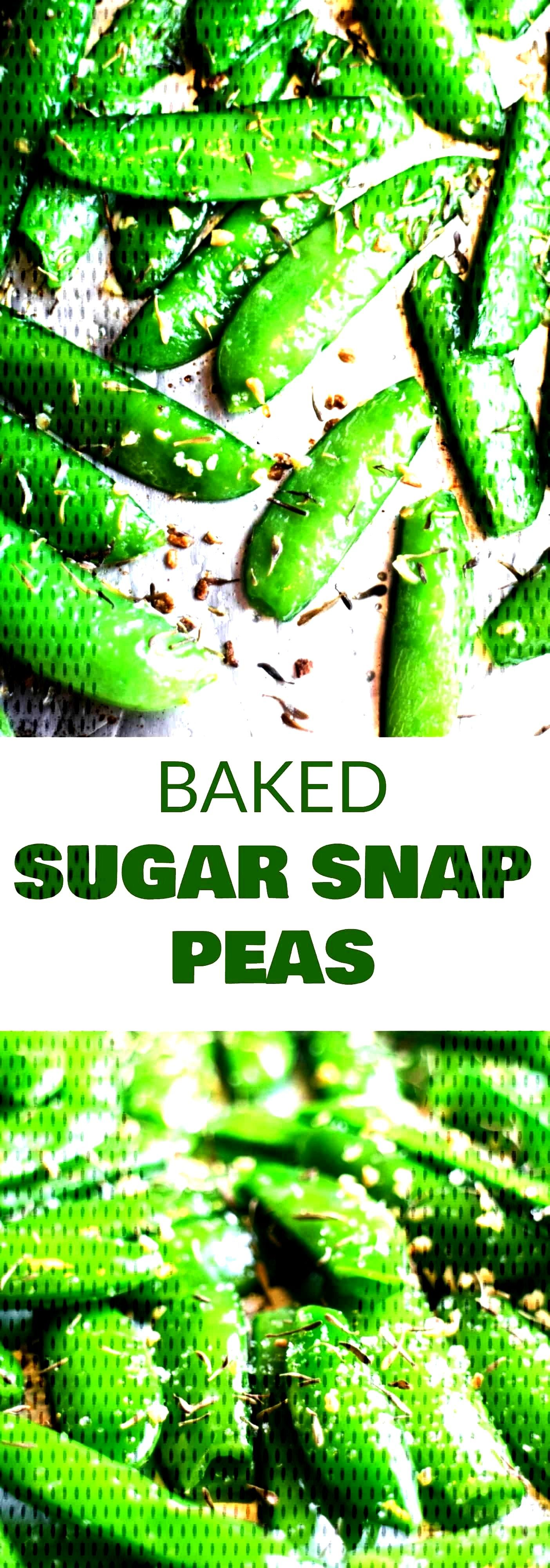 HEALTHY Roasted Sugar Snap Peas Recipe are easy to make and ready in 8 minutes! Sprinkle with gar