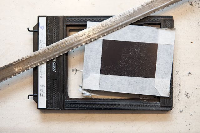 How to modify a film holder for wet plate photography  | Alternative