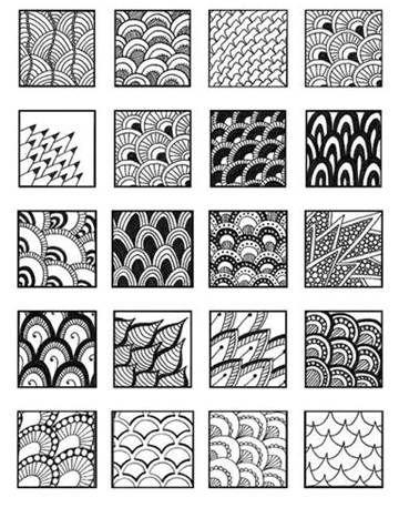 quelques doodles - patouilleà6mains | fond | zentangle, drawings et