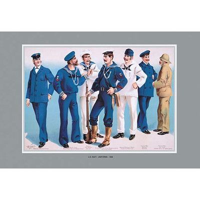 Buyenlarge U.S. Navy: Uniforms, 1899 #2 by Willy Stower Painting Print
