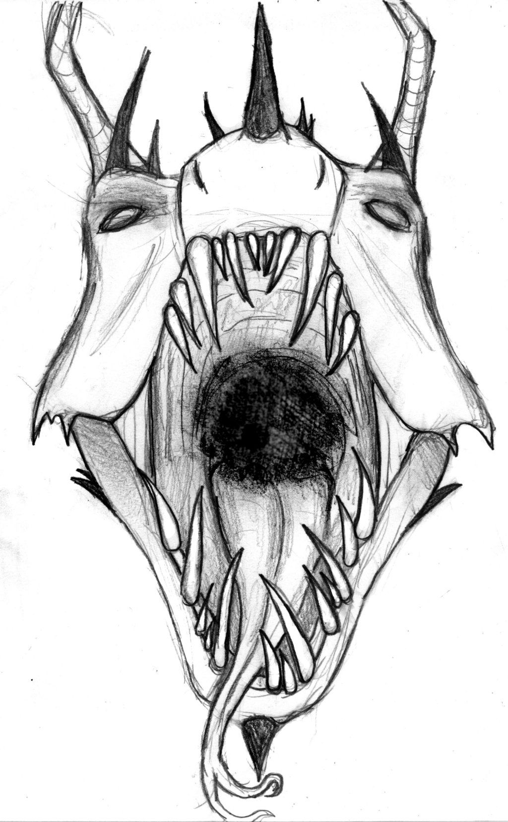 db7ce07b8 Evil Faces Tattoo Outlines For - demon face drawings. | Evil Tattoo ...