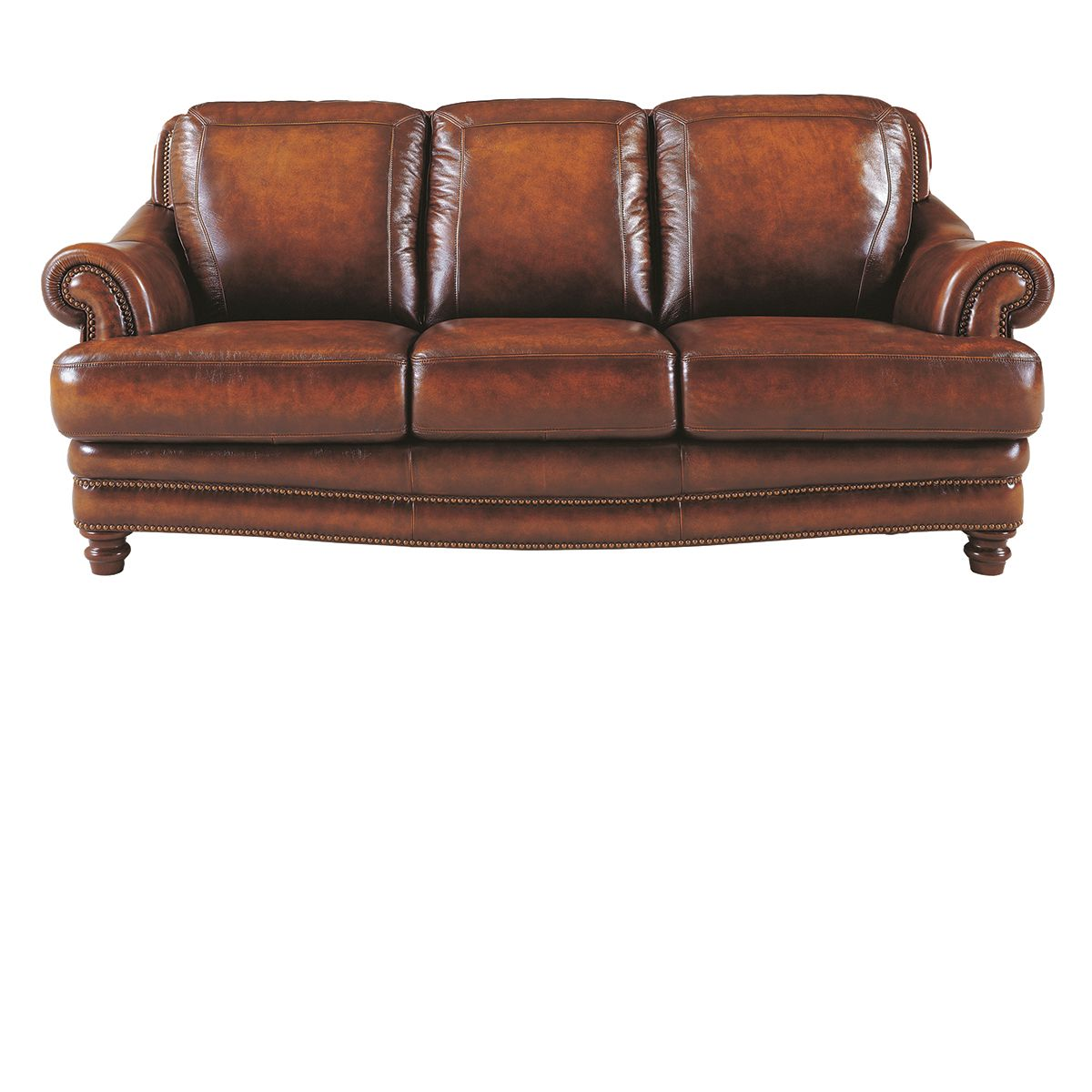 The Dump Furniture Tannery Closeout Top Grain Leather Sofa