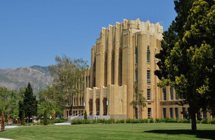 Ogden high school back to 1930s Art deco architecture