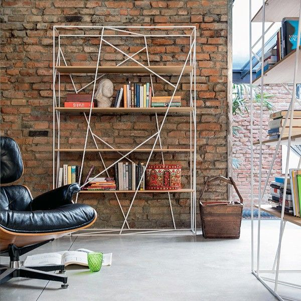NAVIGLIO BOOKSHELF GLASS SHELVES