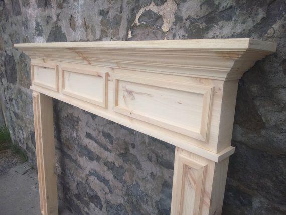 Solid wood fireplace mantel fireplace surround. ne by OnTheWall27