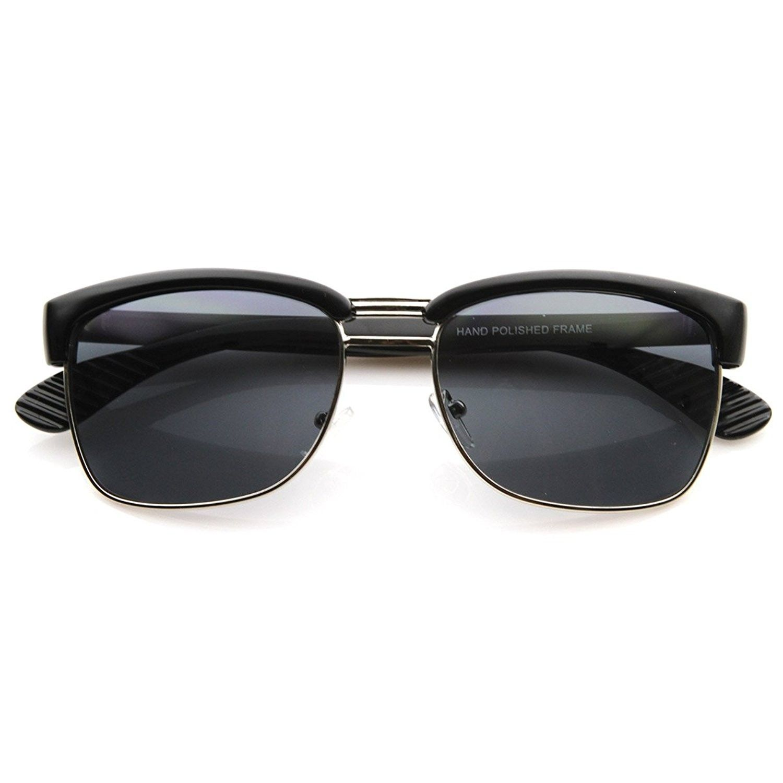 Designer Inspired Half Frame Semi Rimless Classic Square Sunglasses ...