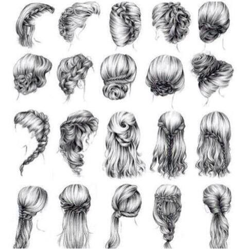 Cute Hairstyle Sketches Long Hair Styles Hair Styles Hair Inspiration