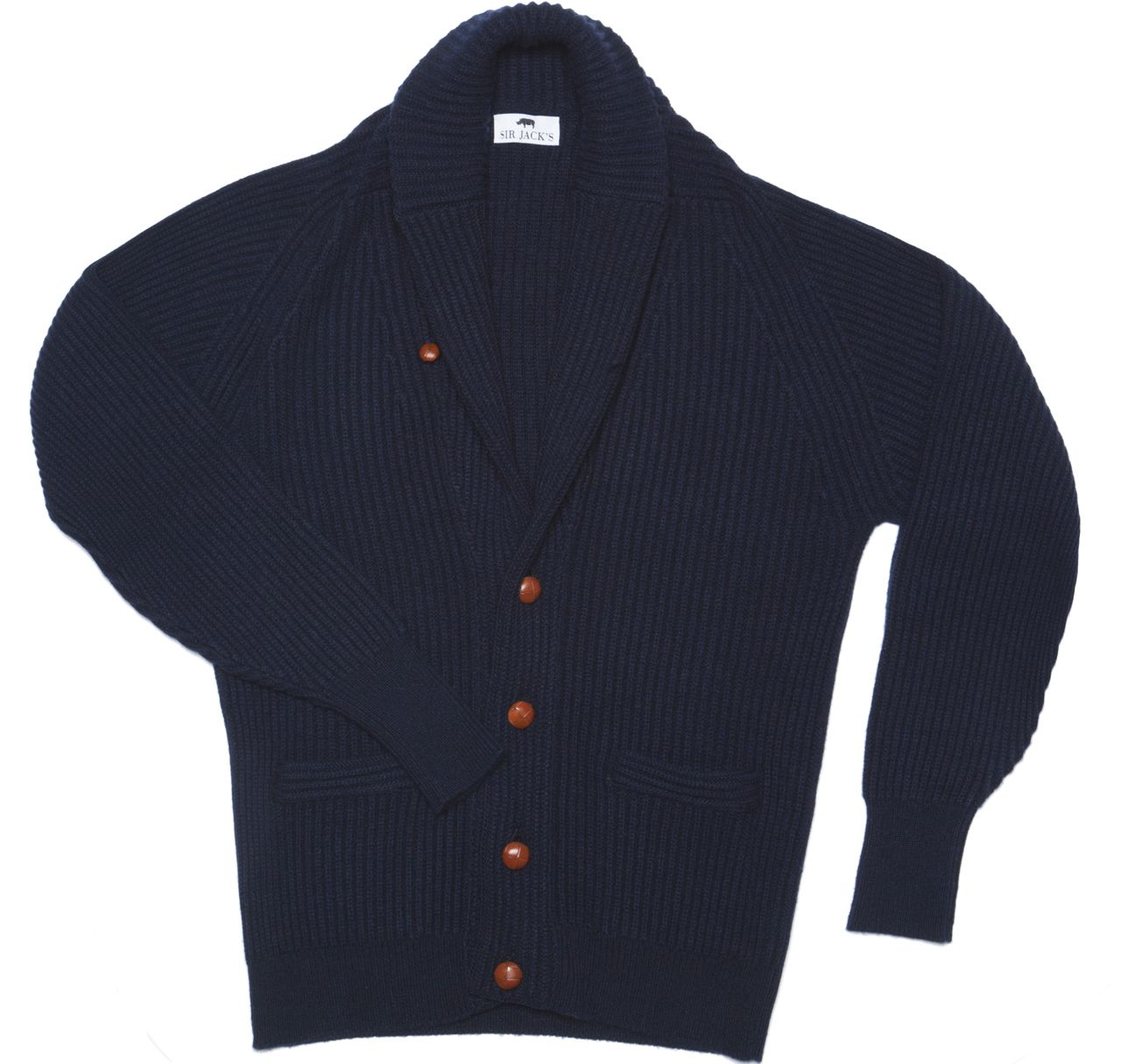 SIR JACK'S - Cashmere Shawl Cardigan Sweater in Navy, $890.00 (http://www.sirjacks.com/cashmere-shawl-cardigan-sweater-in-navy/)