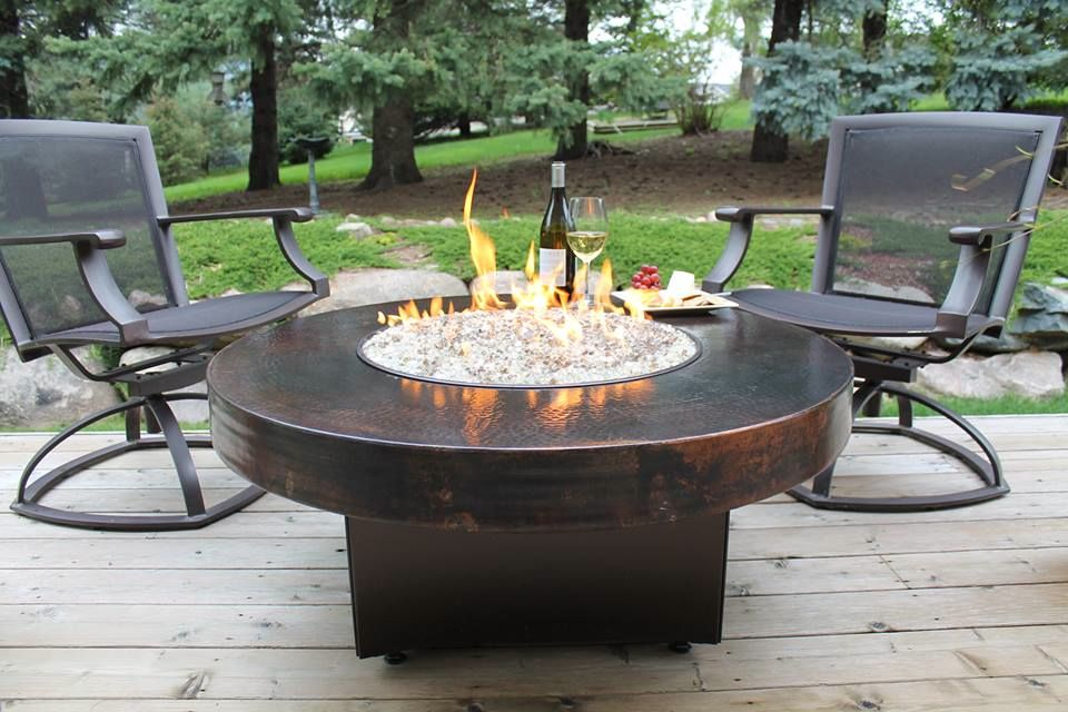 Charming Outdoor Furniture With Fire Pit Table