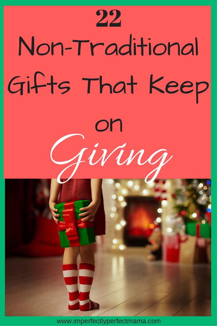Non traditional christmas gift giving ideas