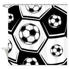 Love Soccer Shower Curtain By Creative Joy Soccer Curtains