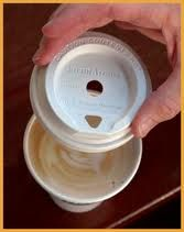 """A cup of cappuccino changed his life. So he invented a new kind of lid -- one that makes """"coffee on the go"""" smell and taste like it should. - The story of Foam Aroma, today on Why Didn't I Think of That? - https://thinkofthat.net/app/foam-aroma-2/"""