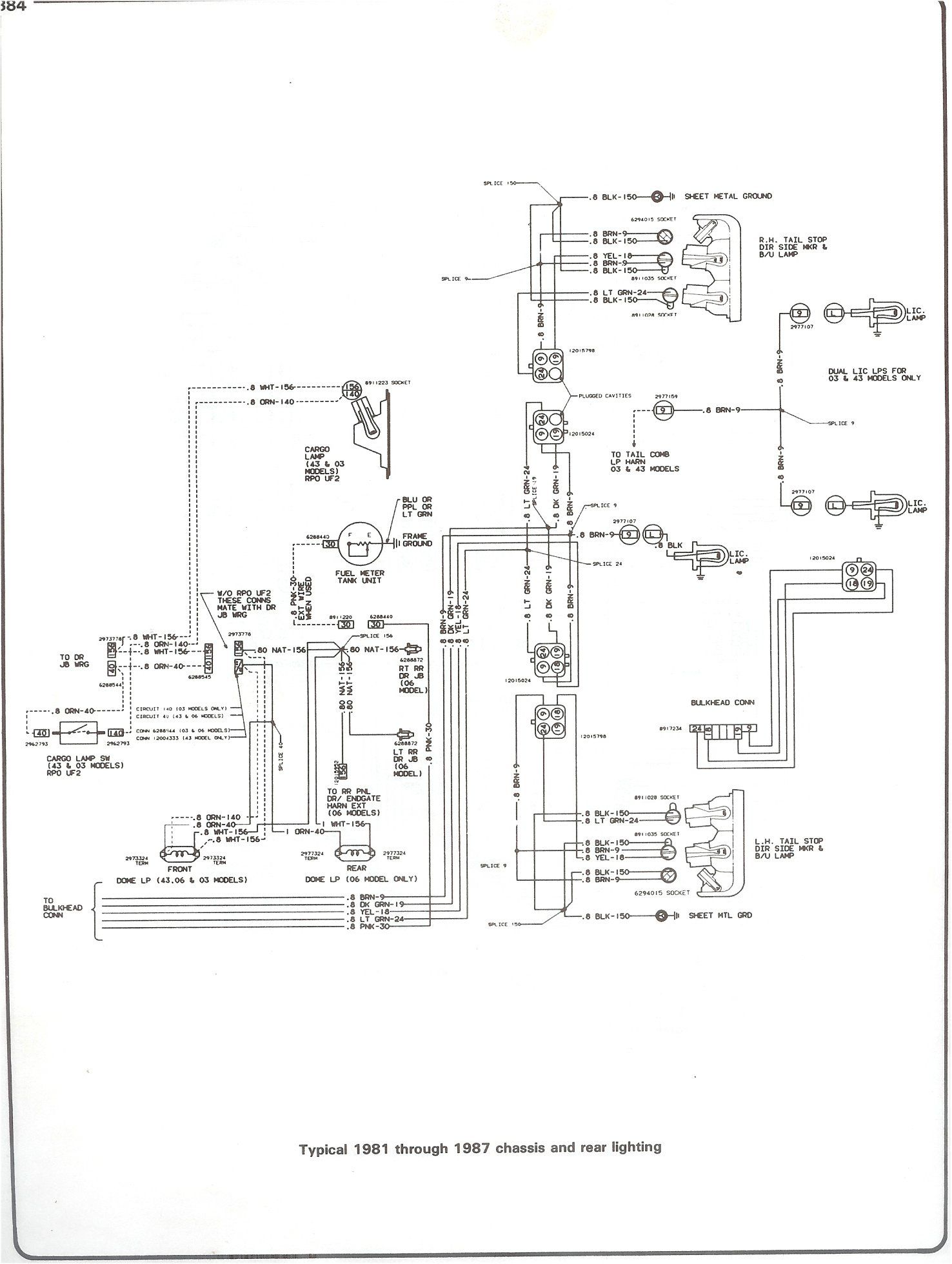 1987 chevy truck wiring diagram chevrolet v8 trucks 1981