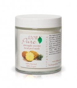 Pineapple enzyme facial peel
