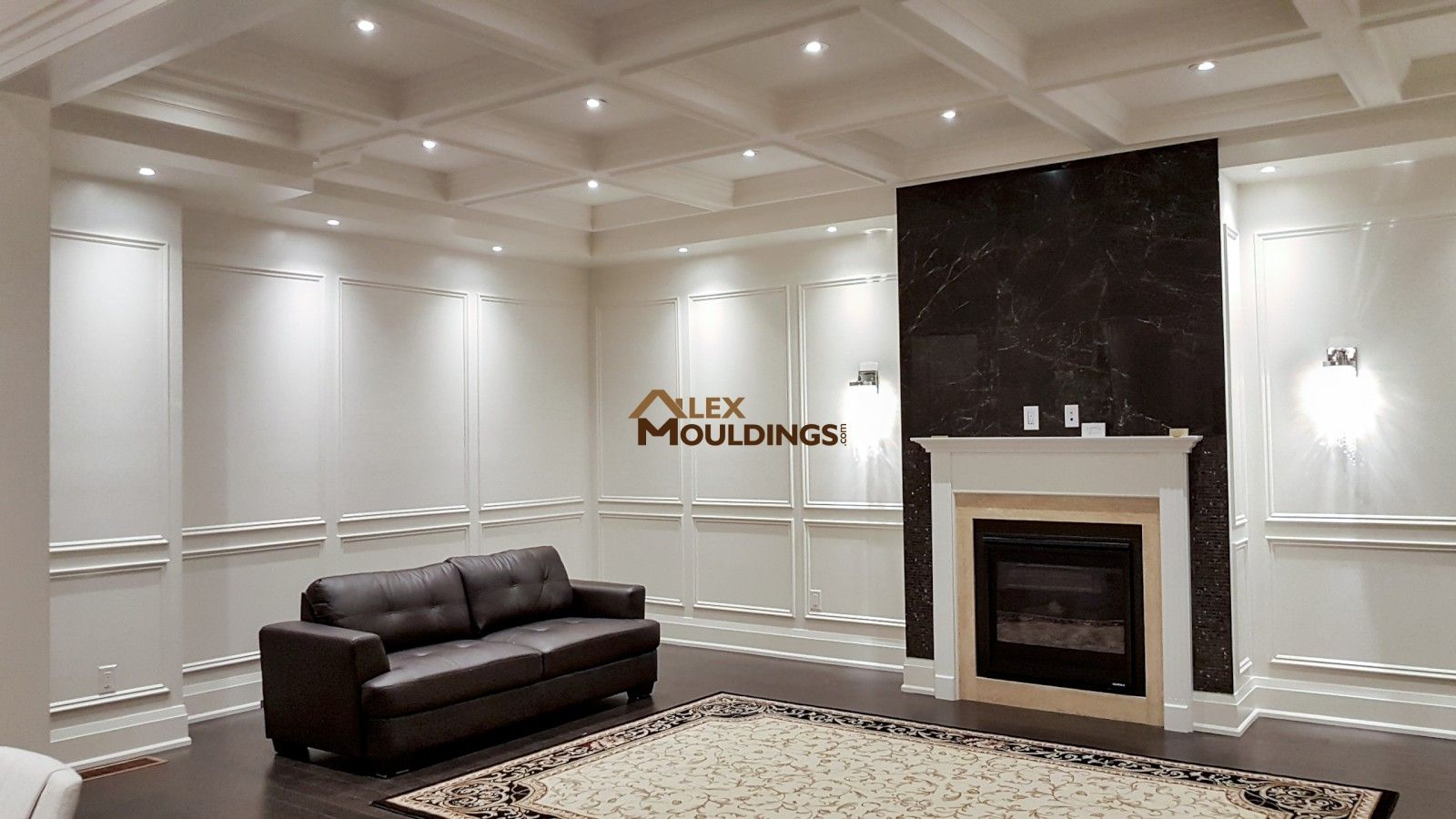 Captivating Toronto Crown Moulding Milwork, Decorative Wainscoting 3D Wall Panels  Ideas, Coffered Ceilings, Potlights