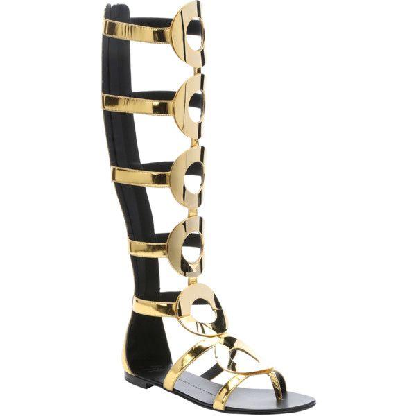Giuseppe Zanotti Leather Gladiator Sandals. 0lh3s9Ir