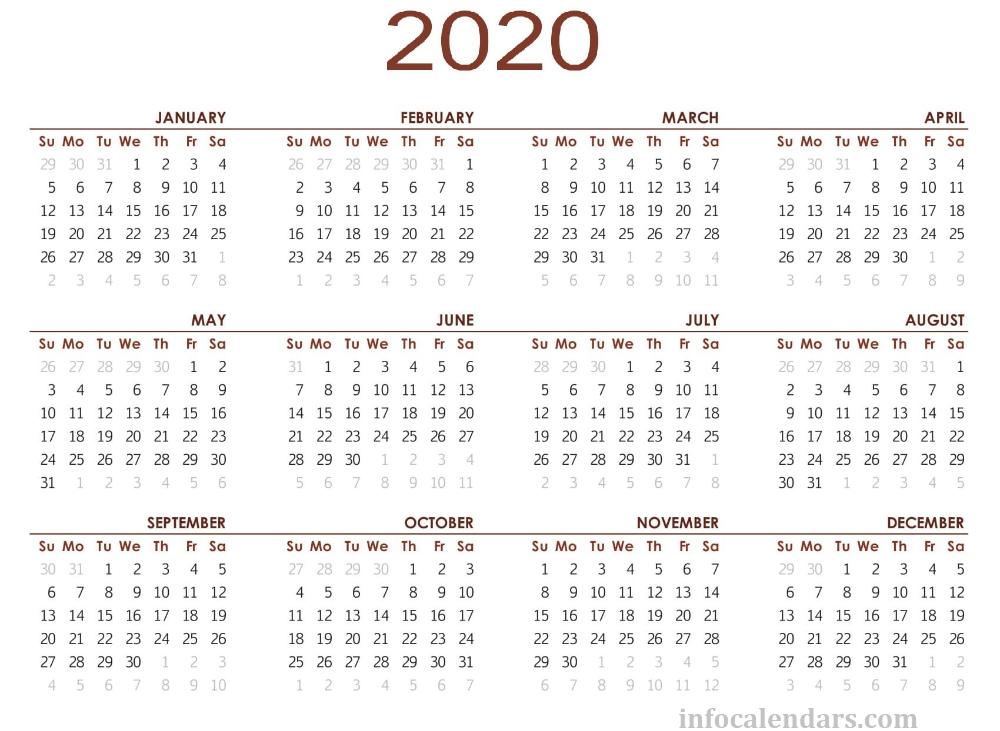 Printable Periodic Table 2020.Pdf Printable 2020 Calendar In 2019 Calendar June