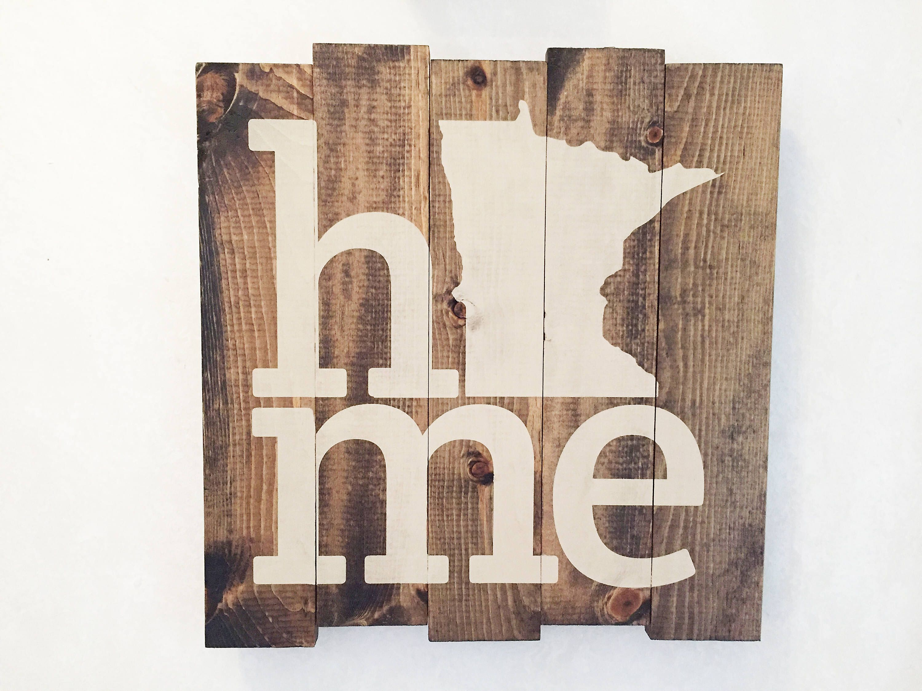 I Call Minnesota Home - Hand crafted stained and stenciled wood sign ...