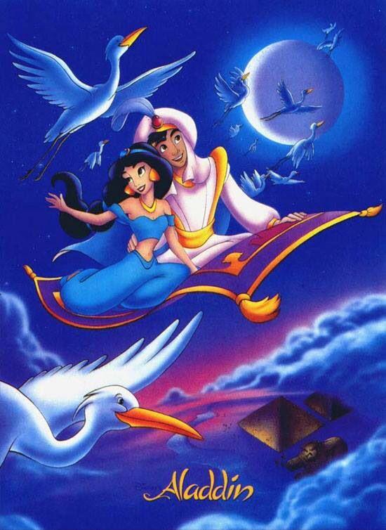 Princess Jasmine And Aladdin In The Whole New World On The Magic Carpet Disney Jasmine Disney Aladdin Aladdin Art
