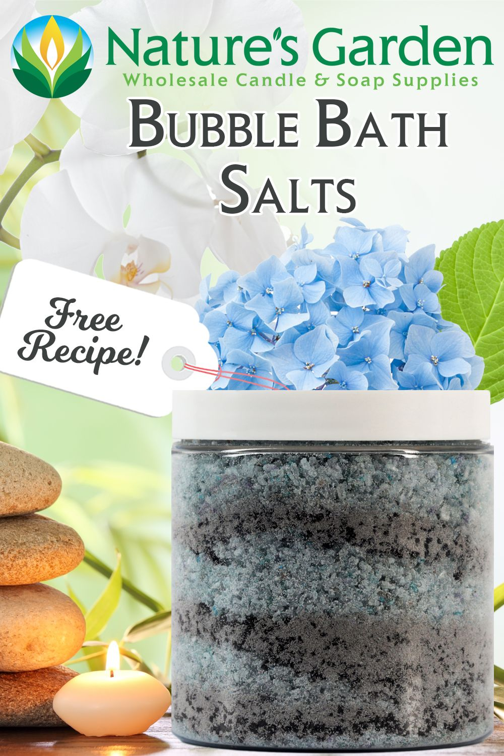 Free bubble bath salts recipe by natures garden in 2020