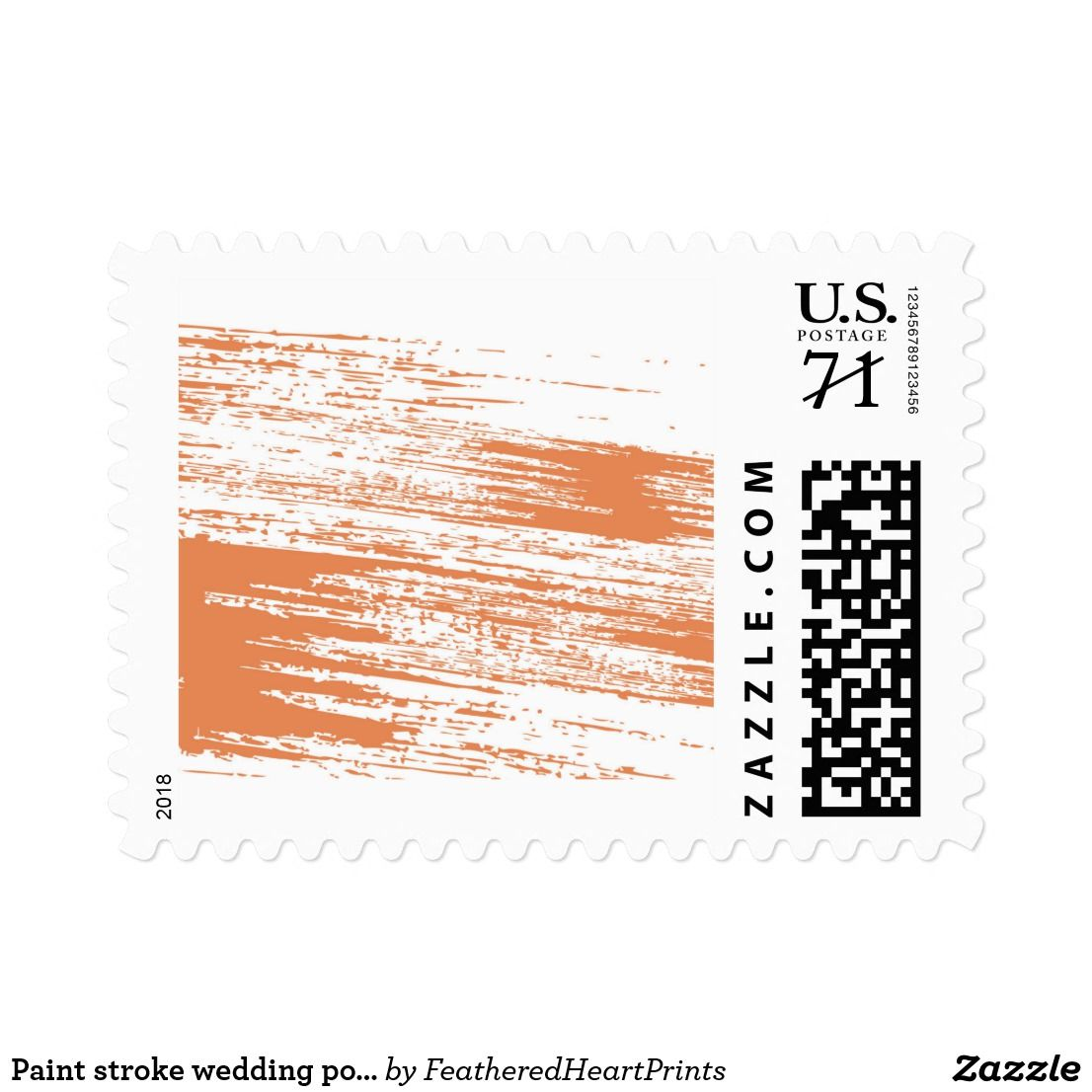 Paint stroke wedding postage stamp   Wedding postage stamps and ...