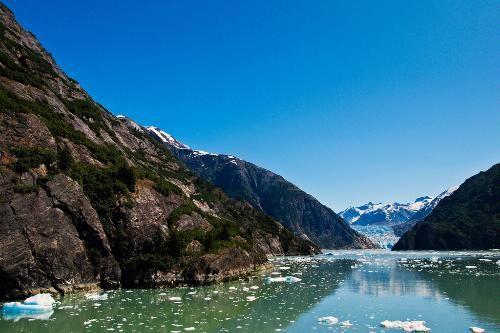 Photo Caption: Slowly approaching the Sawyer Glacier at ...