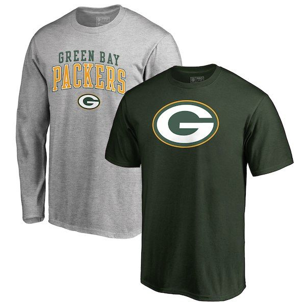 Green Bay Packers NFL Pro Line by Fanatics Branded Big   Tall Square Up  Short Sleeve d0386cb2f