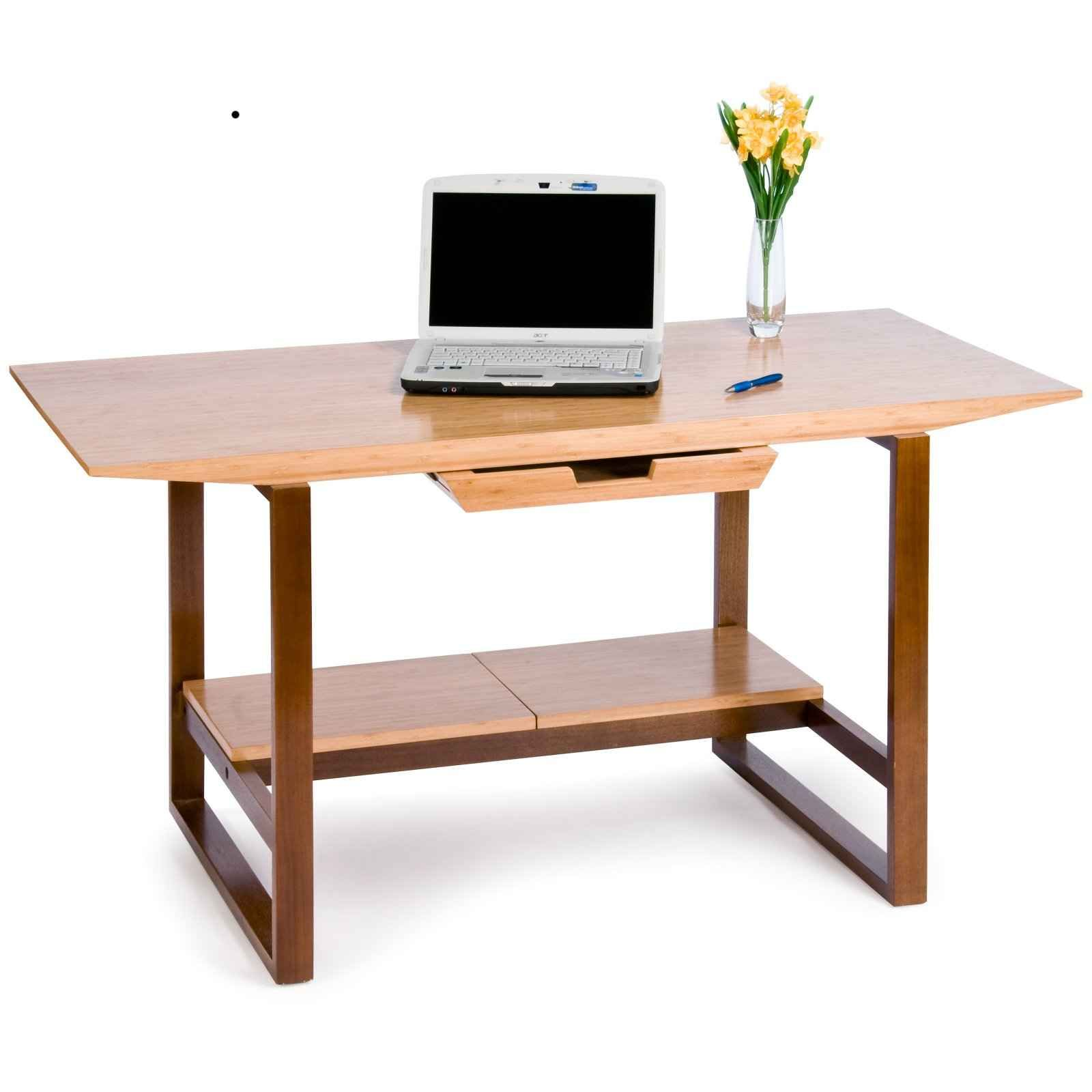 Breeze Wooden Legs Bamboo Laptop Computer Tray Desk
