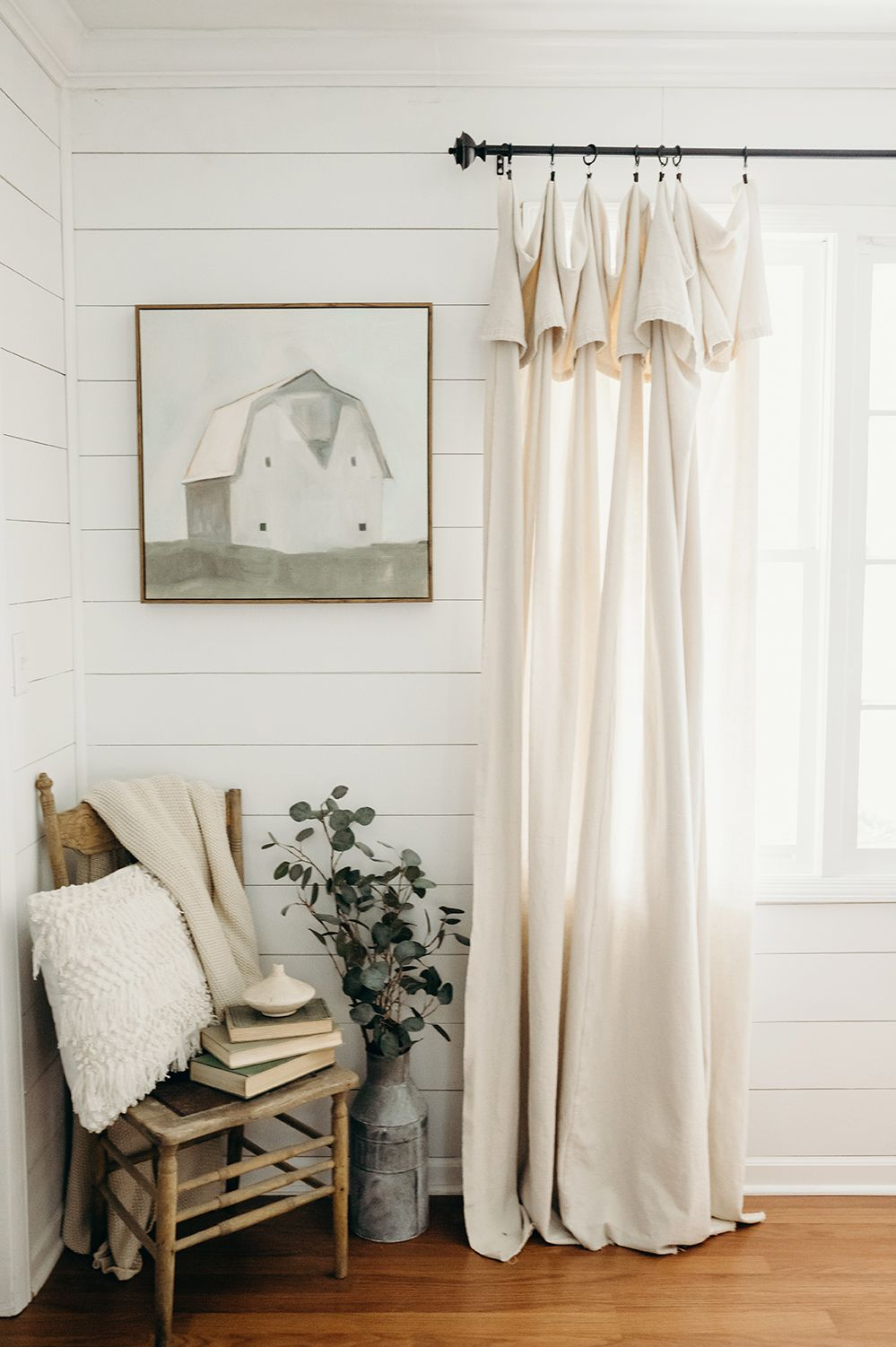 DIY Farmhouse Drop Cloth Curtains