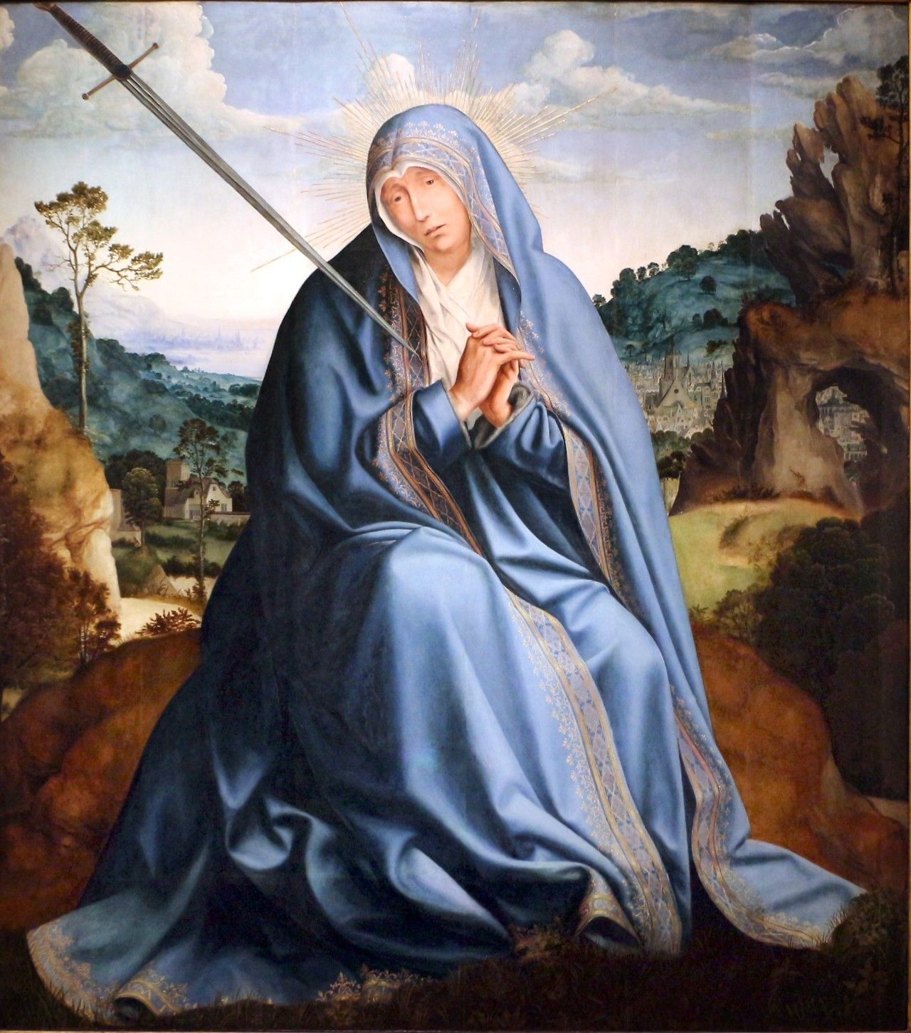 Quentin Metsys Our Lady Of Sorrows 1510 Our Lady Of Sorrows