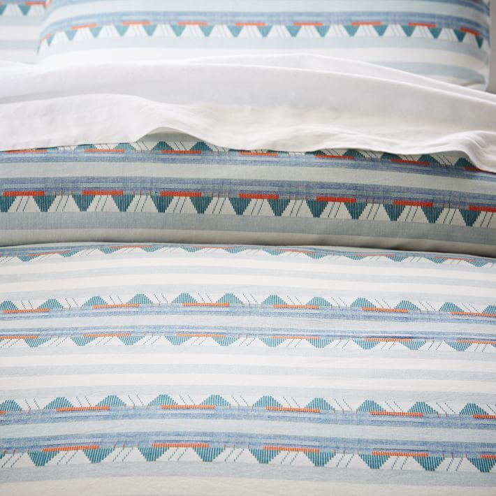 Mixed Stripe Jacquard Duvet Cover + Shams