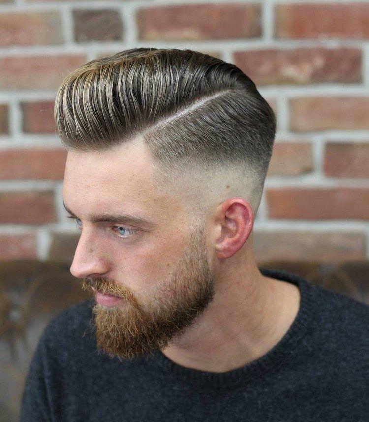 Razor Faded Pompadour Frisur Für Männer Frisuren Pinterest