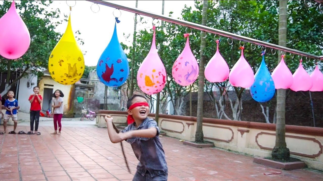 Kids Competition Break Water Baloons Fun Games Outdoor Playground Ente Competitions For Kids Kids Party Games Outdoor Games For Kids