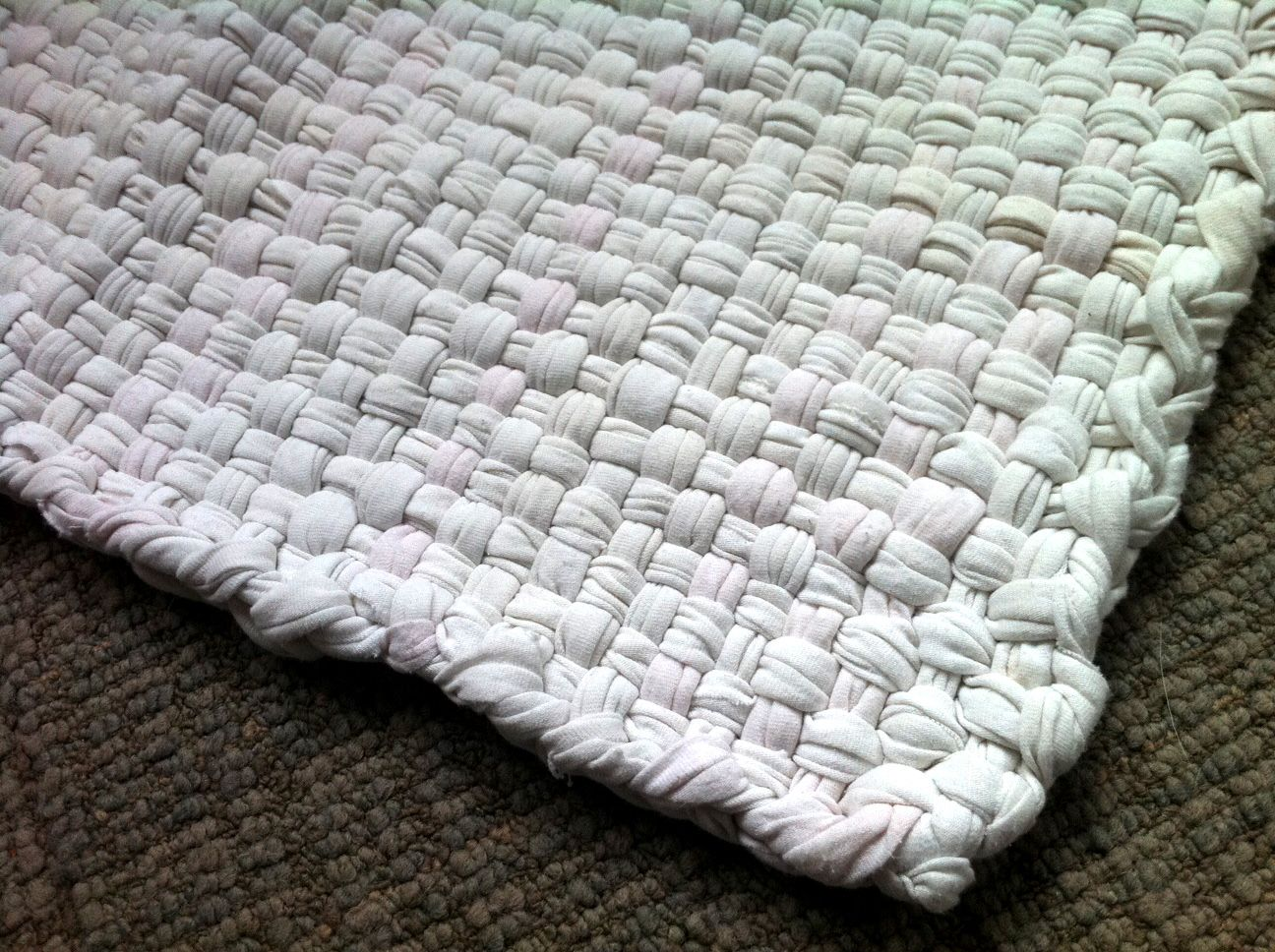 Woven T Shirt Rug With Pdf Instructions Made On A Cardboard Loom Just