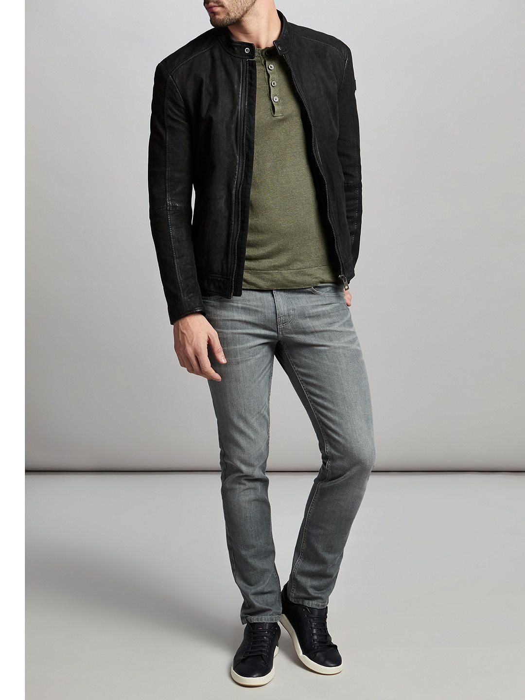 best sneakers best selection of 2019 shop for newest HUGO BOSS Jonate, Leather Jacket | Men Leather Jacket in ...