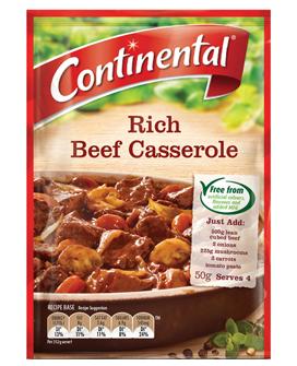 Continental Rich Beef Casserole Recipe Base
