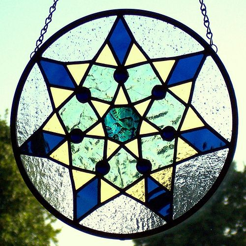 Star stained glass panel | Good Grief Glass | Flickr