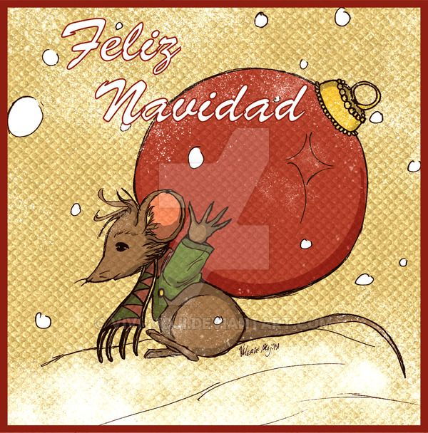 Christmas Mouse by ViVi-Moji.deviantart.com on @DeviantArt