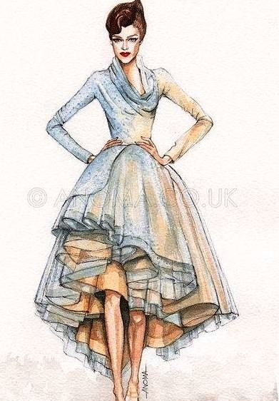 Fashion At Its Finest The Elements And Principals Are Clear In This Creation Fashion Illustration Sketches Fashion Design Sketches Fashion Sketches
