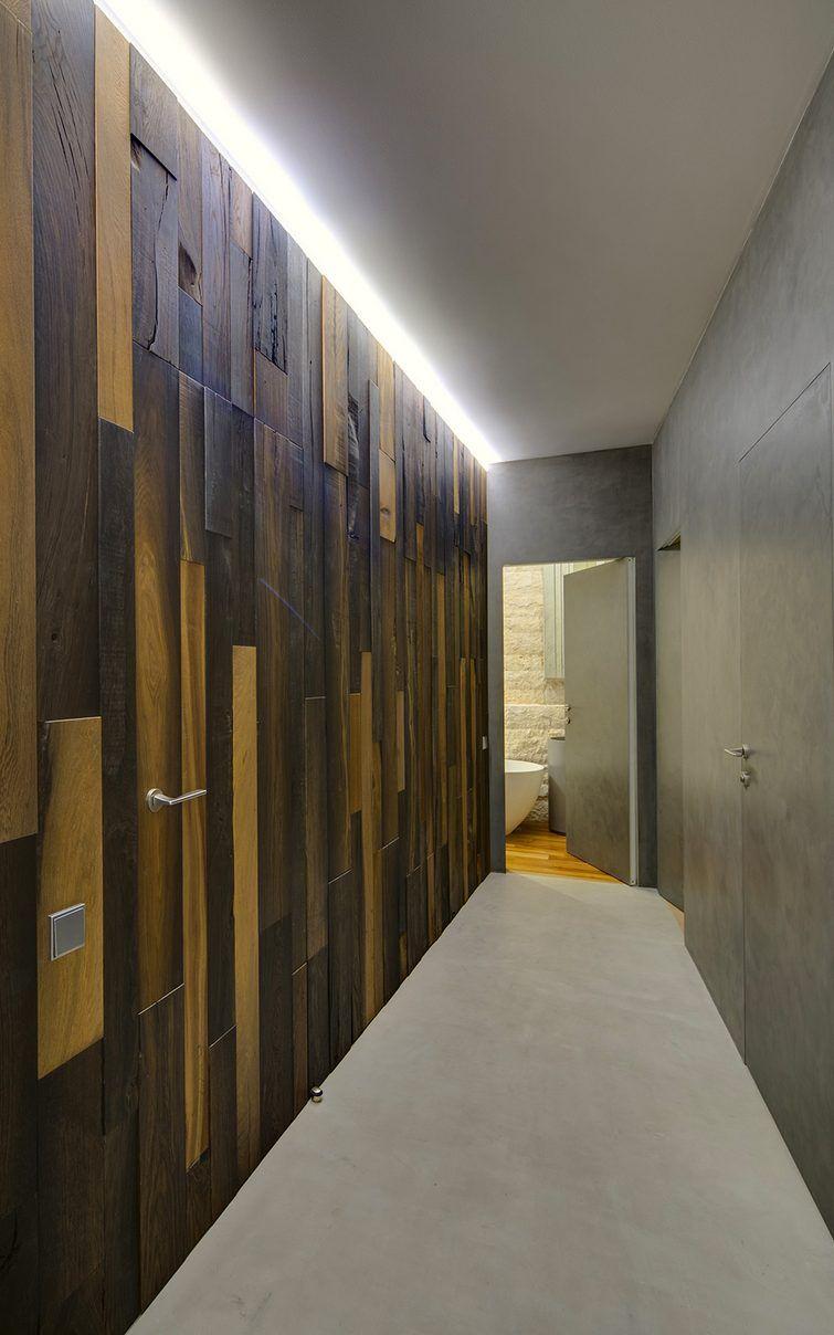 Tégla, fa, kő, beton - modern 120 négyzetméteres lakás loft ...