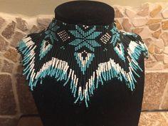 Native American Choker Seed Bead Necklace by CreativeBeads4U
