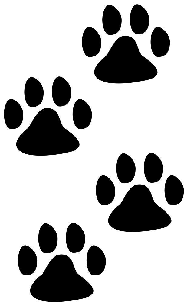Impronte zampe di cane stencil cupcake maschera formati