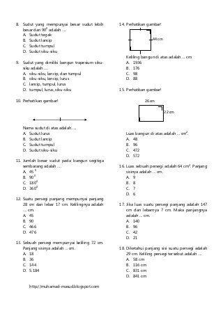 Soal Matematika Sd Kelas 3 : matematika, kelas, Download