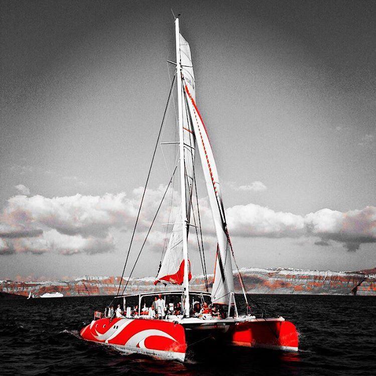 Dreamcatcher Santorinisailingneshecaptaincepamogafullsailfulljib New Dream Catcher Boat Santorini