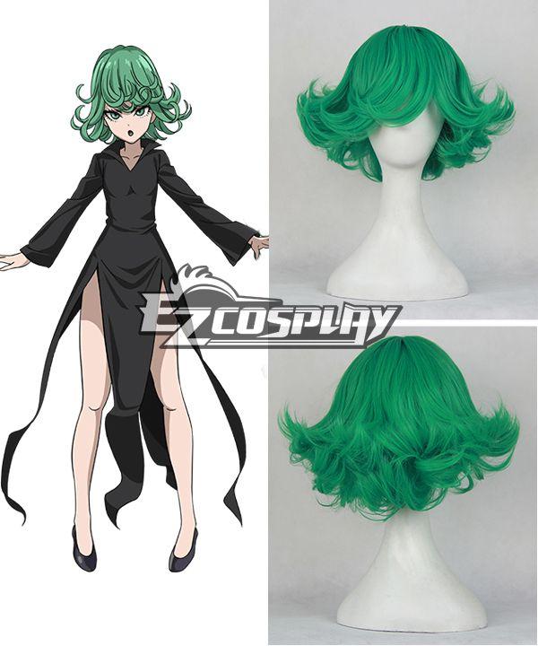 One Punch Man Terrible Tornado Senritsu no Tatsumaki Short Green Cosplay Wig