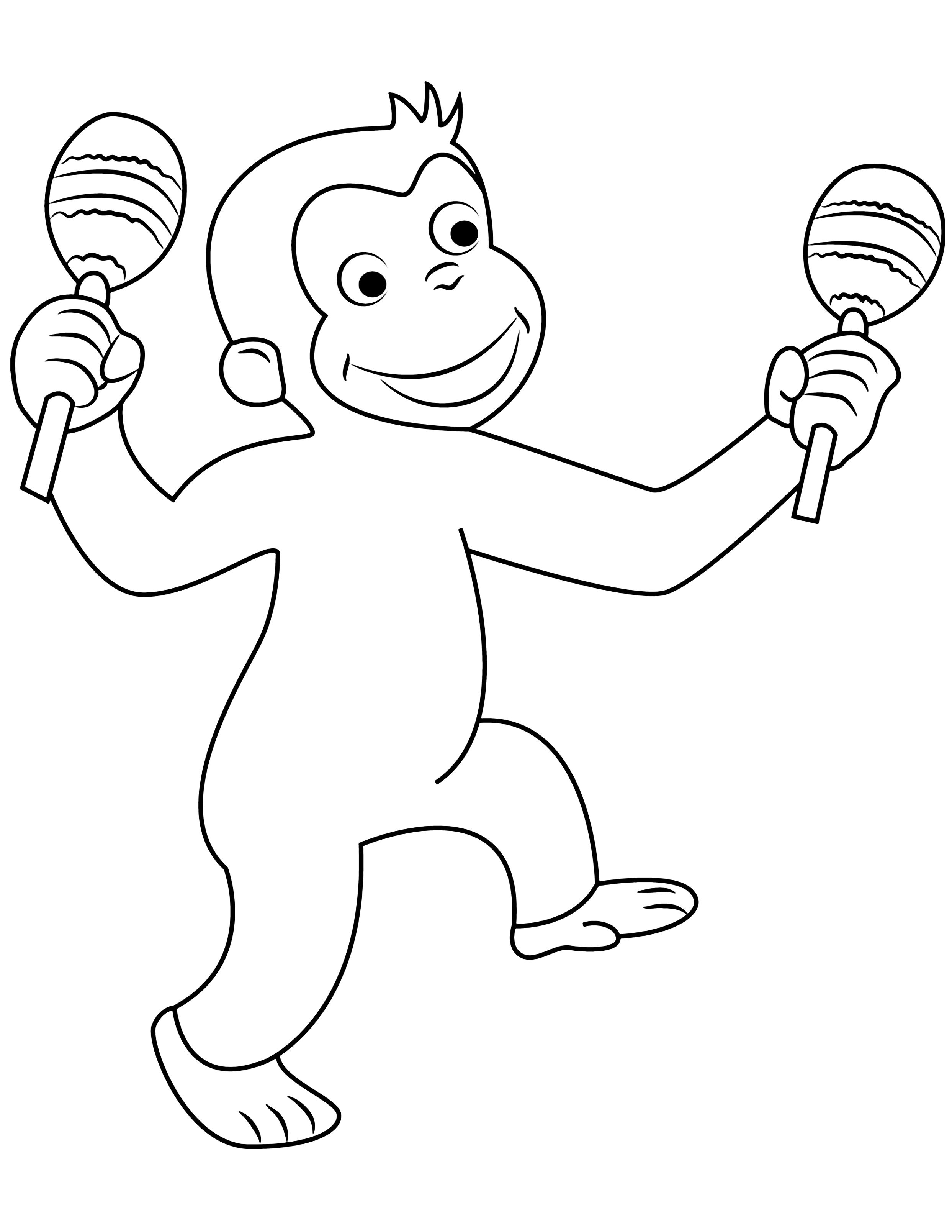 30 Curious George Coloring Pages For Kids Curious George Coloring Pages Cartoon Coloring Pages Coloring Pages For Kids