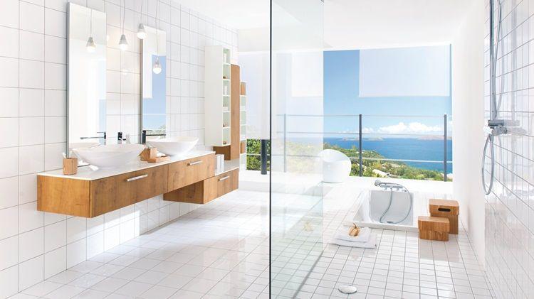 Spa Like Atmosphere In Your Modern Bathroom Double Stylish Basin Walk In Shower Schmidt Avec Images Meuble De Salle De Bain Mobilier De Salon Salle De Bain