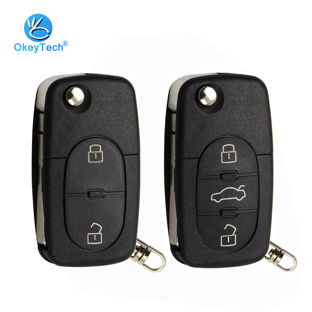 Okeytech 2 3 Button Flip Folding Car Key Shell Cover Case Fob Cr1620 Best Price Oempartscar Com Car Keys Case Cover Key