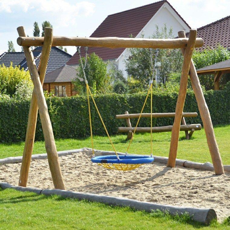 Columpios para el jard n y su uso en el dise o del espacio - Columpios de madera para jardin ...